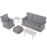 Miniature Striped Living Room Furniture