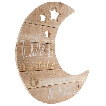 Love You Moon Wood Wall Decor