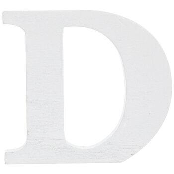 """White Wood Letter D - 3"""""""
