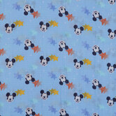 Mickey Mouse Star Gauze Fabric