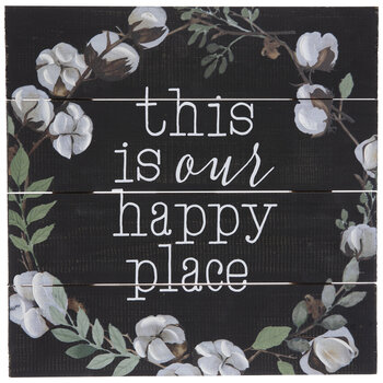 Our Happy Place Wood Wall Decor