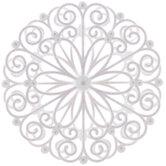 White Glitter Swirl Snowflake Ornament
