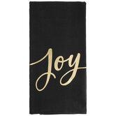 Black & Gold Joy Kitchen Towel