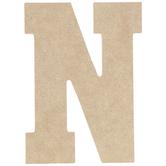 """Wood Letter N - 5"""""""