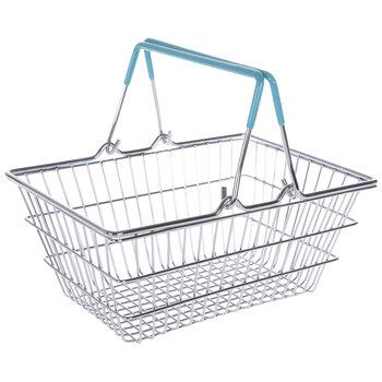 Blue Metal Shopping Basket