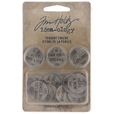 Tim Holtz Metal Thought Token Embellishments