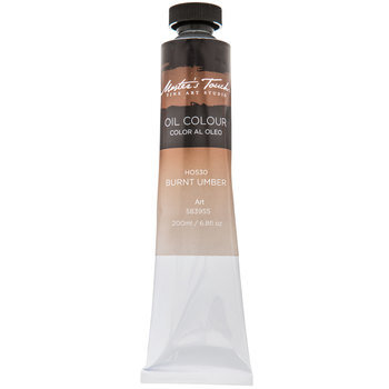 Burnt Umber Master's Touch Oil Paint - 6.8 Ounce
