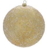 Gold Glitter Ball Ornaments