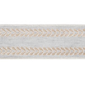 Gray Chambray Embroidered Tape Trim