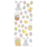 Easter Basket Glitter Stickers