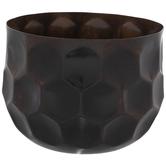 Bronze Honeycomb Metal Container