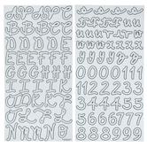 White Glitter Stephens Script Alphabet Stickers