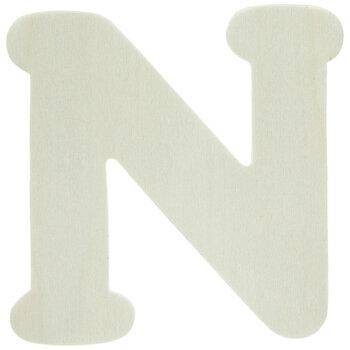 """Wood Letters N - 4"""""""