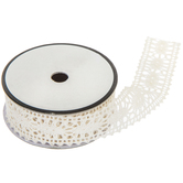 Ivory Poly Lace Trim - 1""
