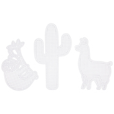 Cactus, Sloth & Llama 8-Mesh Plastic Canvas Sheets