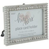 Rhinestone Frame Place Card Holder