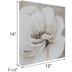 Cream Flower Close-Up Canvas Wall Decor