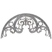Scroll Arch Galvanized Metal Wall Decor