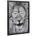 Lion With Glasses Wood Wall Decor