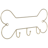 Gold Bone Metal Wall Decor With Hooks