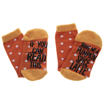 Pumpkin Spice Latte Crew Socks
