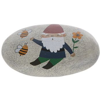 Gnome With Bees Garden Stone