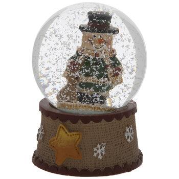 Mini Snowman With Broom Snow Globe