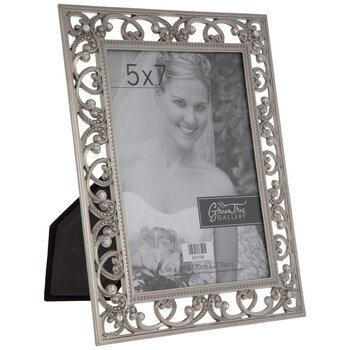 Pewter Open Scroll Metal Frame