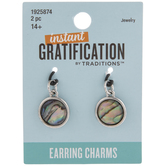 Flat Round Shell Earring Charms