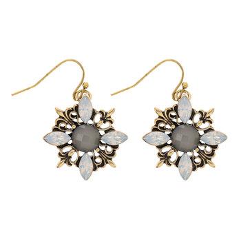 Vintage Look Flower Earrings