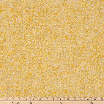 Yellow Daisy Delight Cotton Calico Fabric
