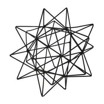 Open Geometric Star Metal Decor