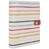 2021 Striped 6-Ring Bound Planner - 12 Months