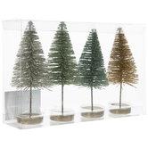 Glitter Sisal Trees