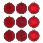 Burgundy Matte, Shiny & Glitter Ball Ornaments