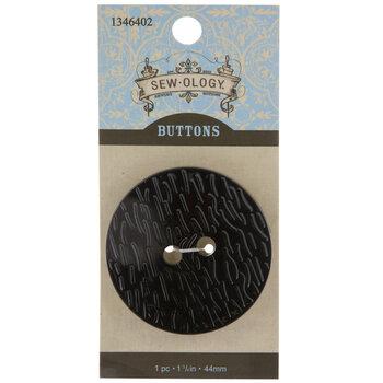 Wood Grain Round Button - 44mm