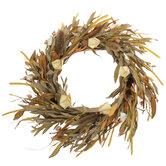 Cream & Tan Thistle Wreath