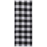 Black & White Buffalo Check Table Runner