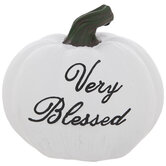 White Very Blessed Pumpkin