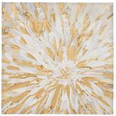Gold & White Burst Canvas Wall Decor