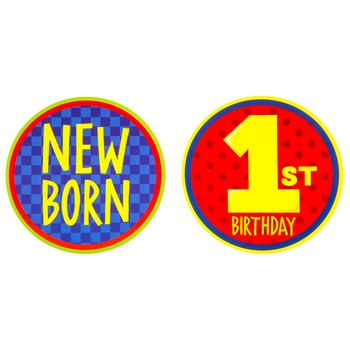 Boy Baby Photo Stickers
