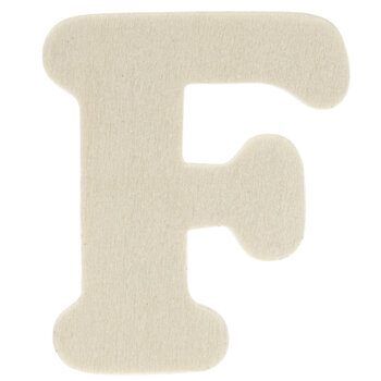 """Wood Letters F - 1 3/4"""""""