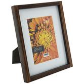 "Walnut Wood Frame With Mat - 5"" x 7"""