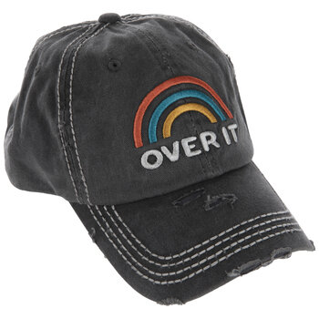 Gray Over It Rainbow Baseball Cap