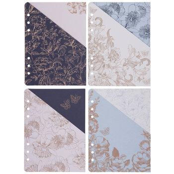 Foil Floral 6-Ring Planner Pocket Folders
