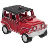 Red SUV Ornament