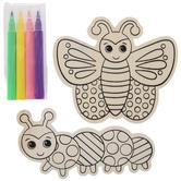 Coloring Bugs Wood Craft Kit