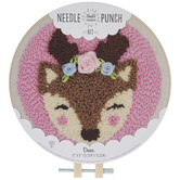 Deer With Roses Punch Needle Kit