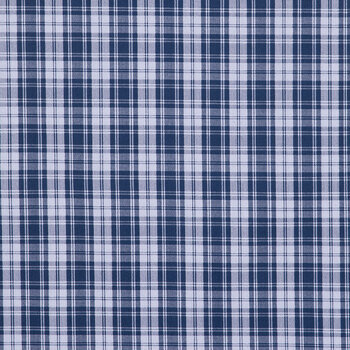 Blue Plaid Duck Cloth Fabric