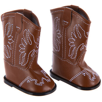 Brown Doll Cowboy Boots